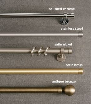 Iron Rods Metallic Finishes