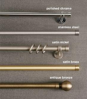 Iron Rods Metallic Finishes