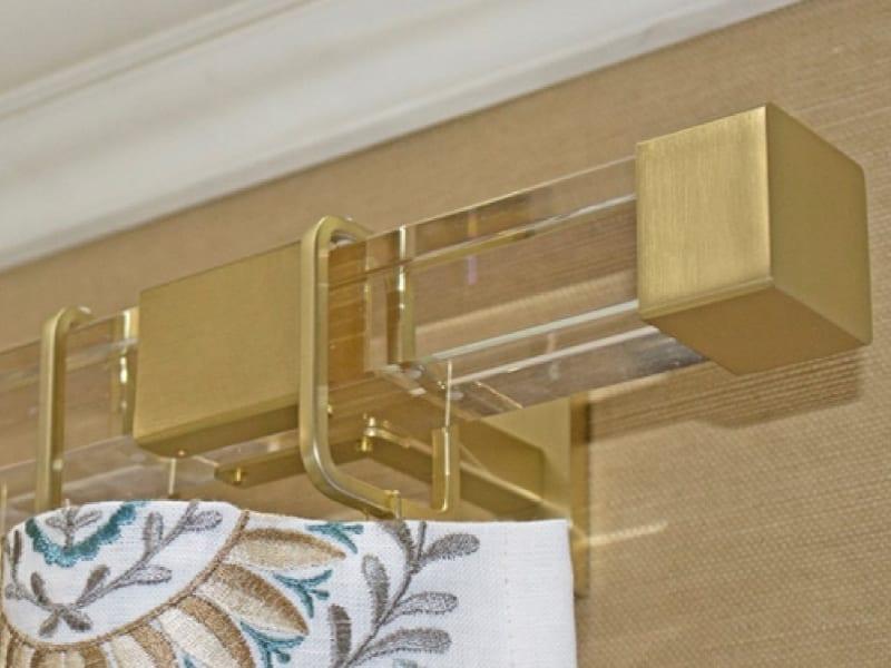 square acrylic drapery rods