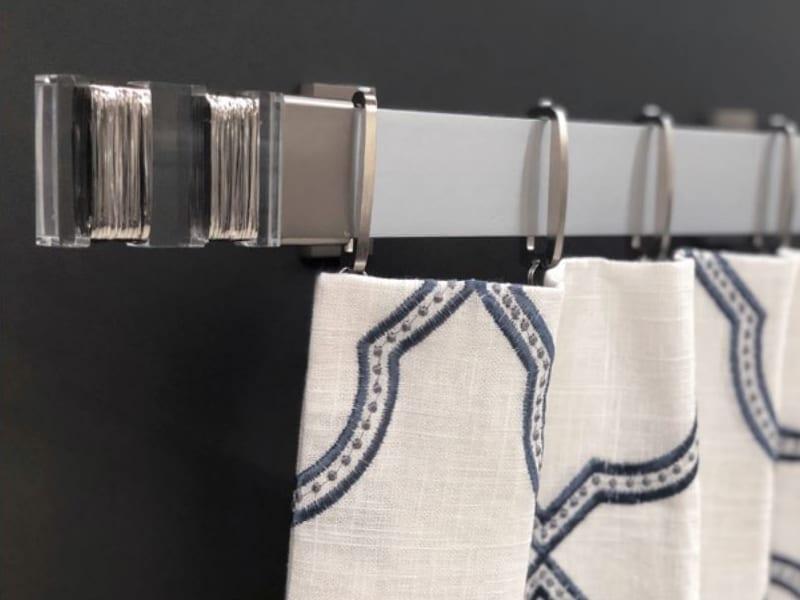 modern metal acrylic square drapery rods rings