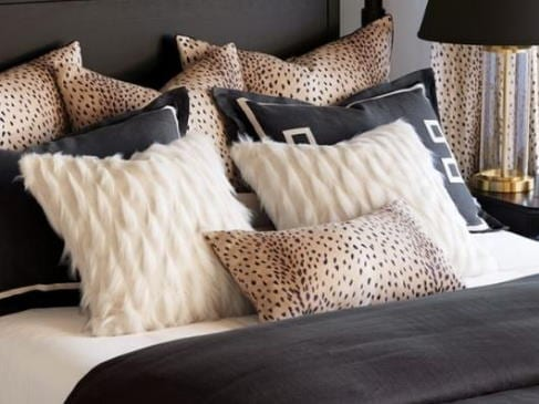 Custom Bedding Black Pillows Laguna Beach Shadey Ladies