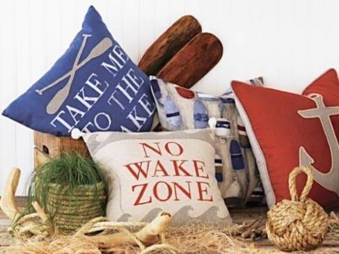 Nautical Pillows Laguna Beach Shadey Ladies