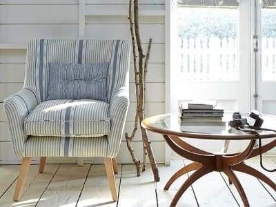 blue stripe upholstered side chair laguna beach shadey ladies