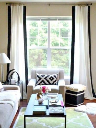 white black banding drapes shades blinds shadey ladies laguna beach