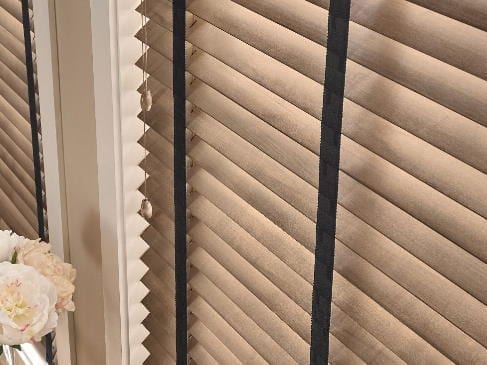 wood blinds black cloth tape laguna beach